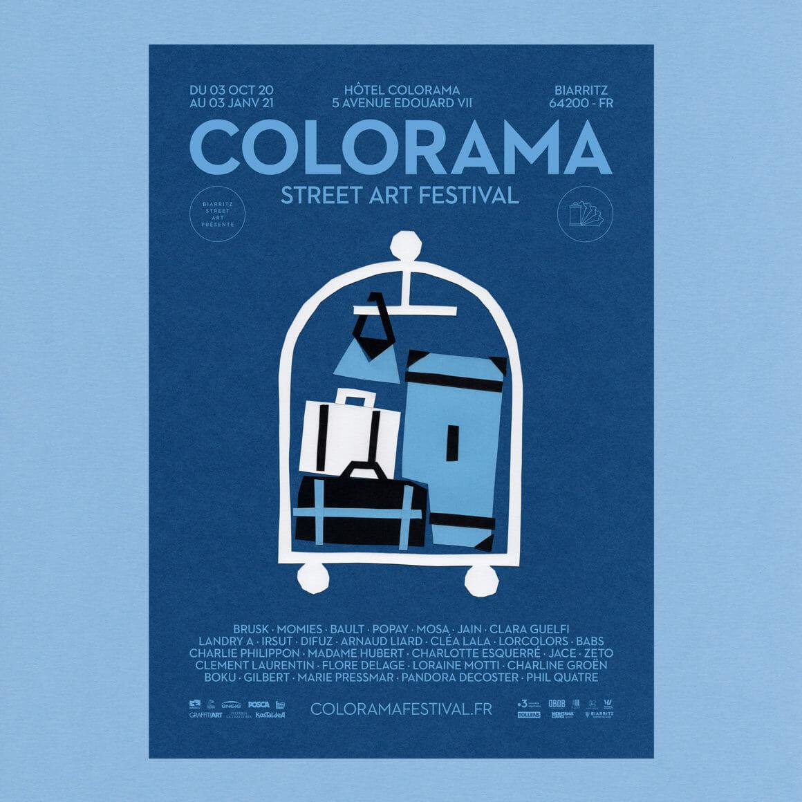 L'affiche de la 5ème édition du Colorama Steet Art Festival de Biarritz