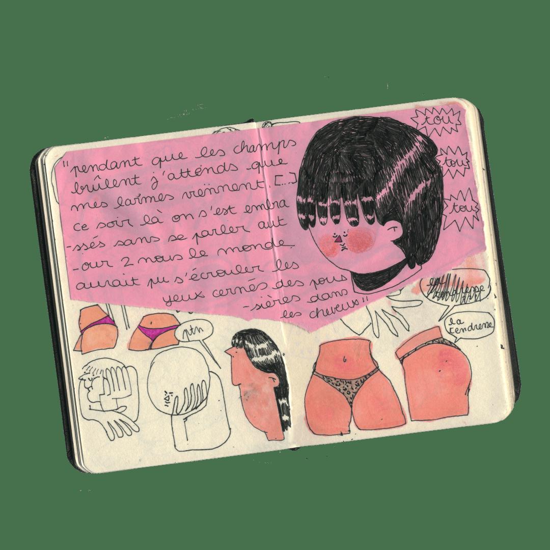 Zoé Manel carnet de dessin