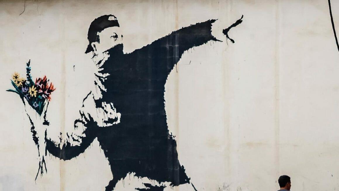 Banksy Flower Thrower Street art