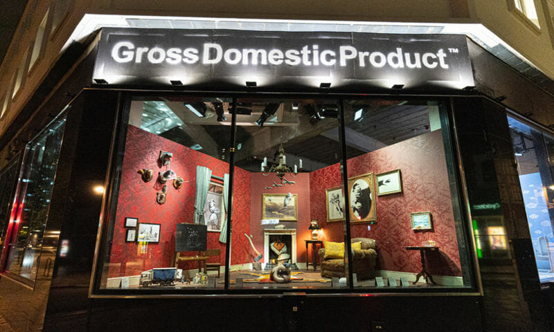 """Banksy boutique """"Gross Domestic Product"""""""