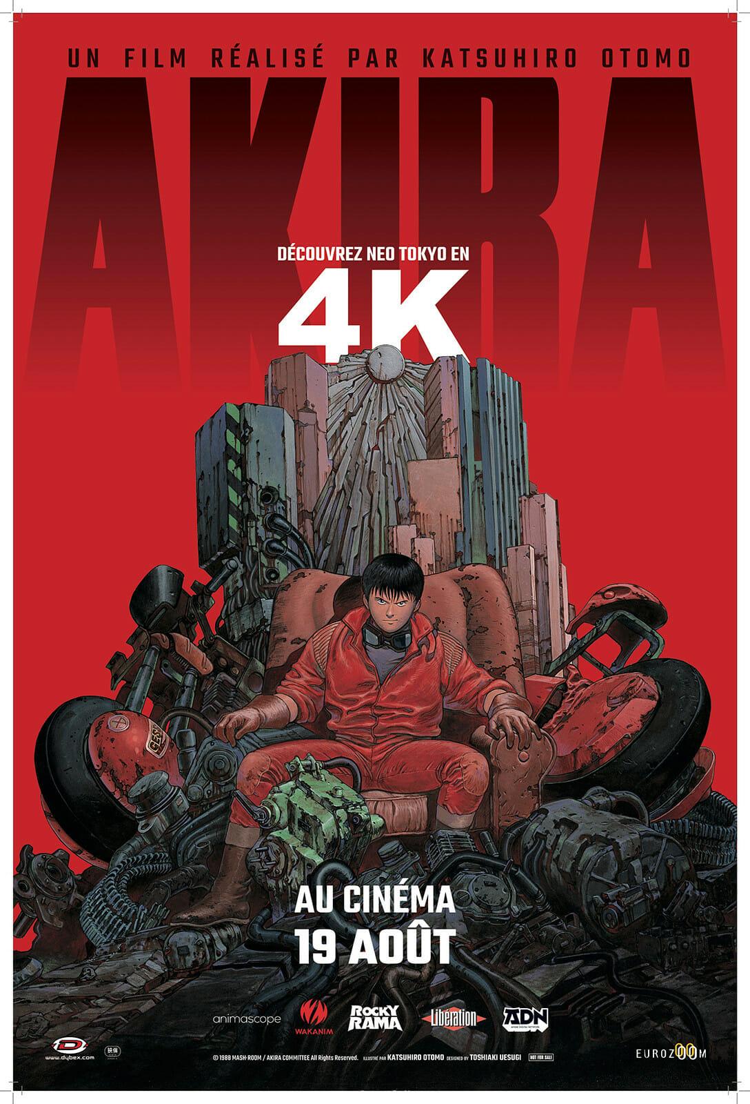 affiche de la ressortie du film Akira en 4K