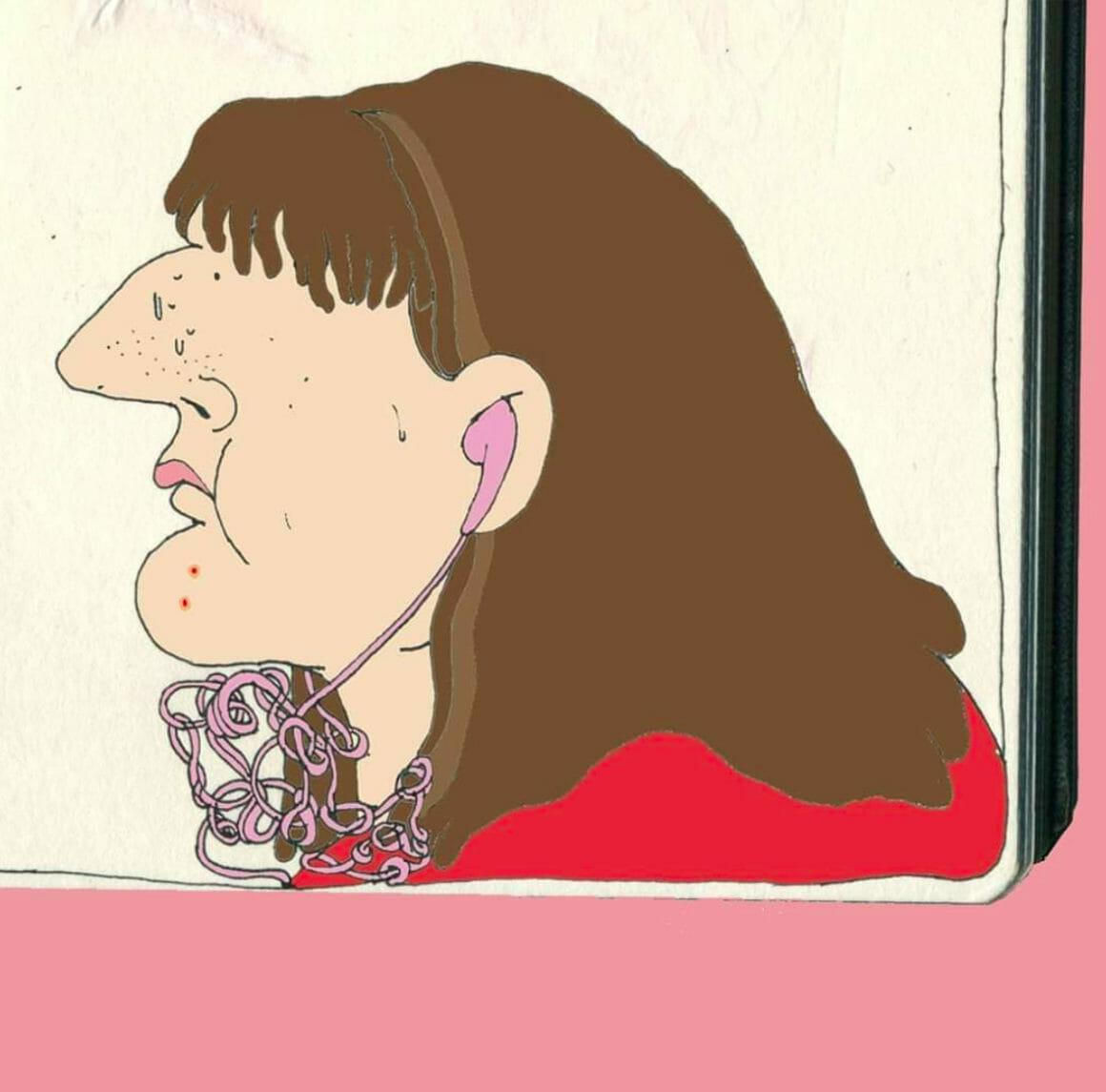 femme acnée