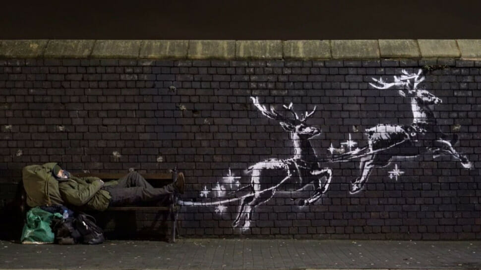 Banksy Ill be home by christmas