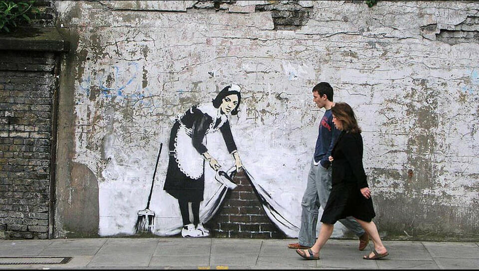 Banksy Sweeping it under the carpet