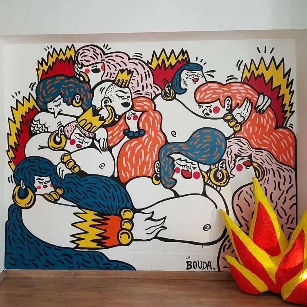 La jeune artiste de Street Art, Bouda sera présente au Peinture Fraîche Festival