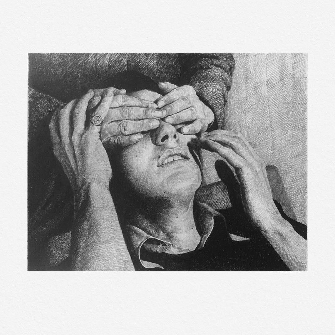 """Illustration réalisée par Alexandre Luu à partir d'un extrait de la série """"Les dialogues"""""""