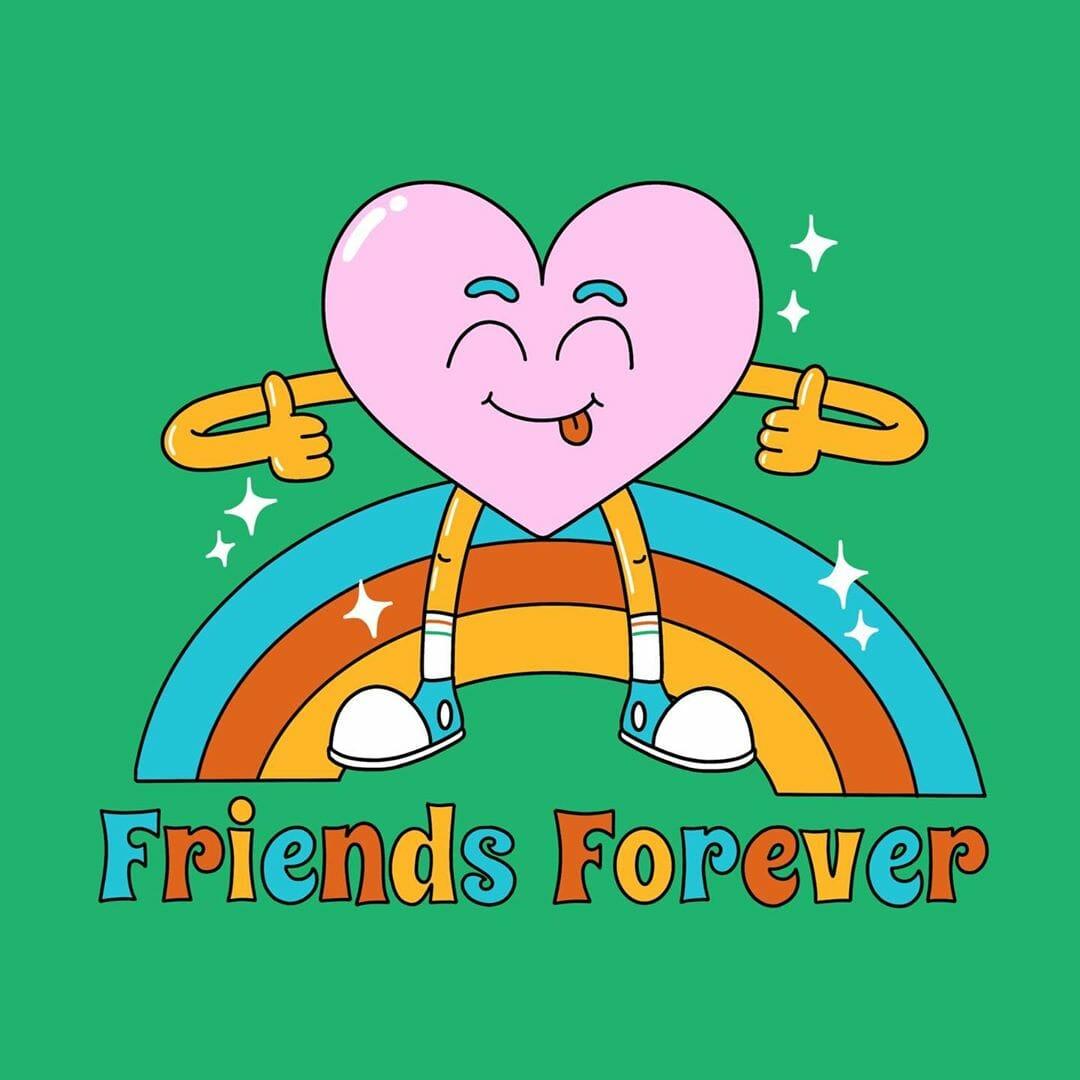 Nart Friends forever heart illustration