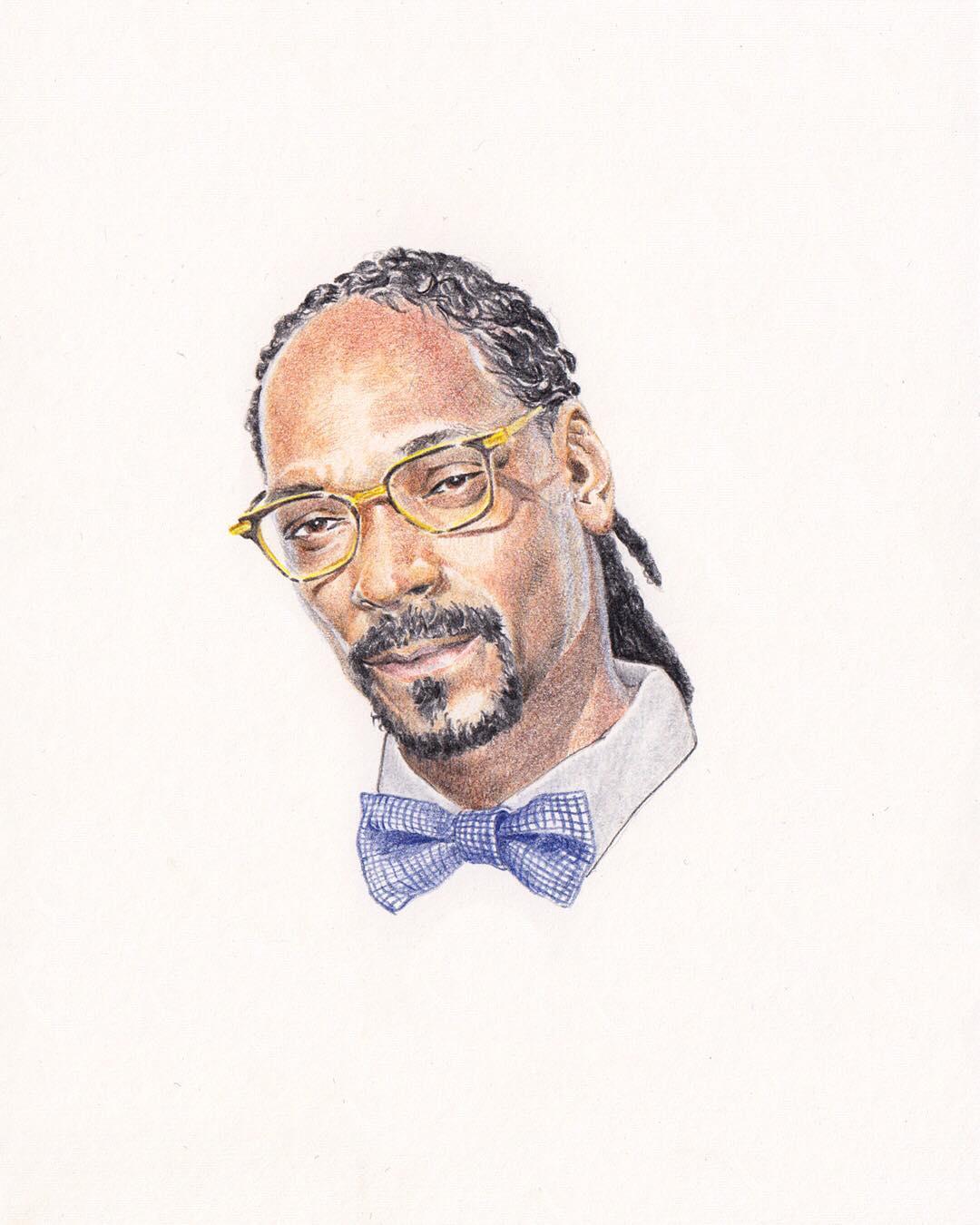 Un portrait du rappeur Snoop Dog réalisé par Alexandre Luu