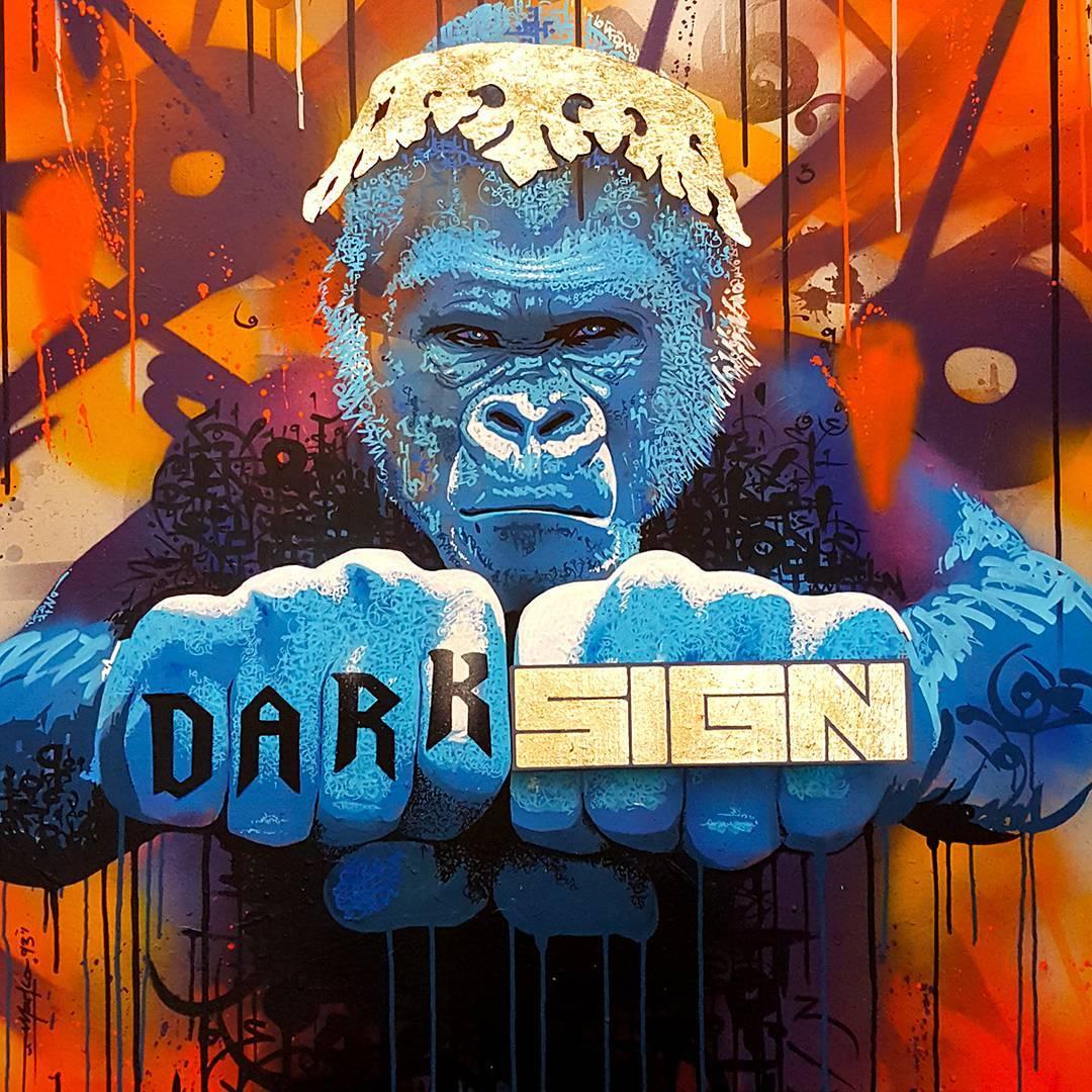 gorille urbain peinture murale