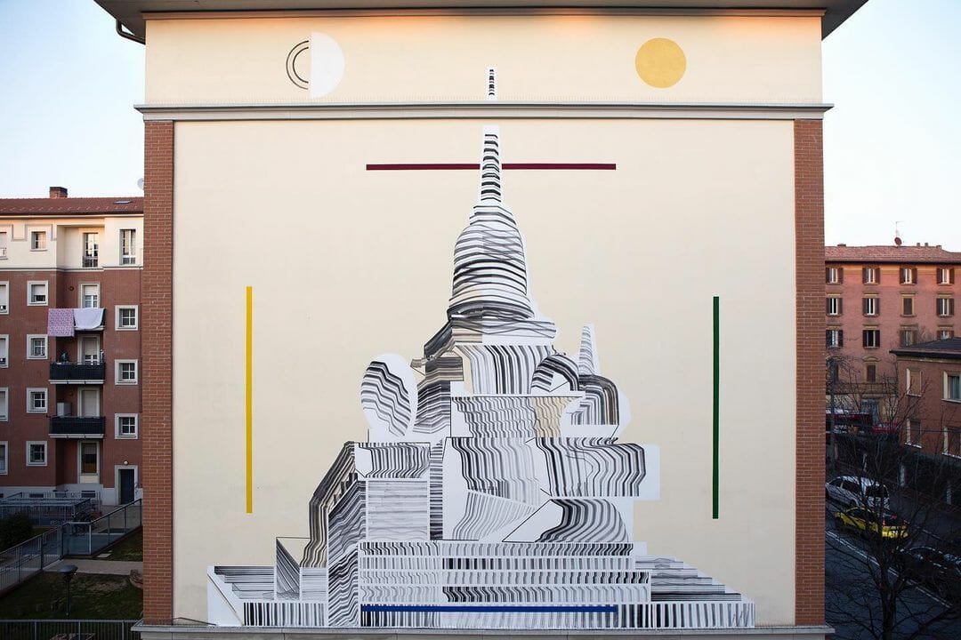 """Mandala, an urban intervention"" est un projet artistique de 2501 collaboratif"