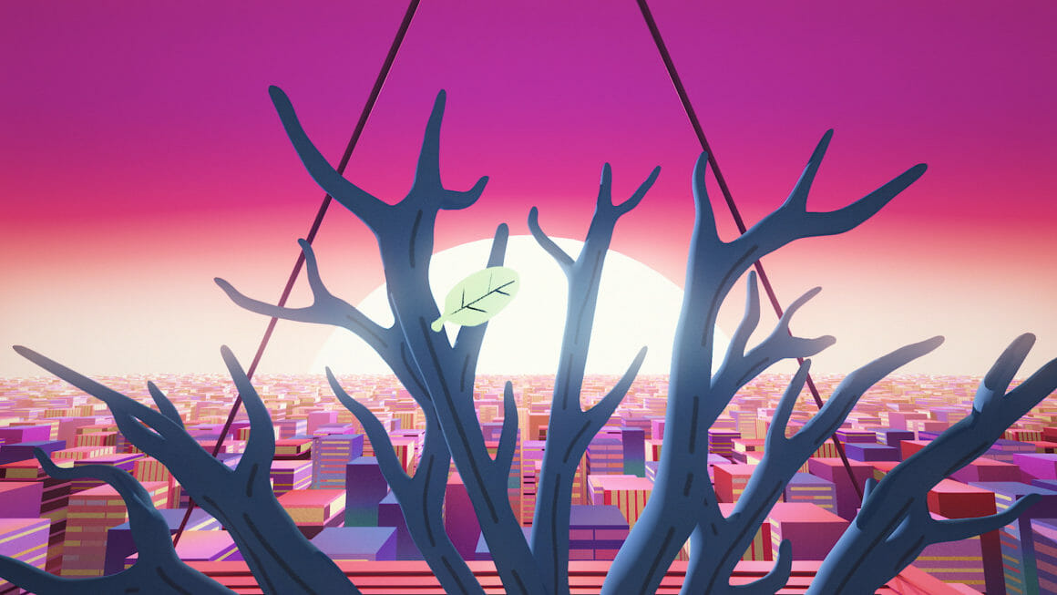 Rone Esperanza arbre ville futuriste eprd sa derniere feuille
