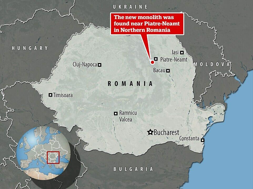 Un deuxième monolithe métallique découvert en Roumanie 1