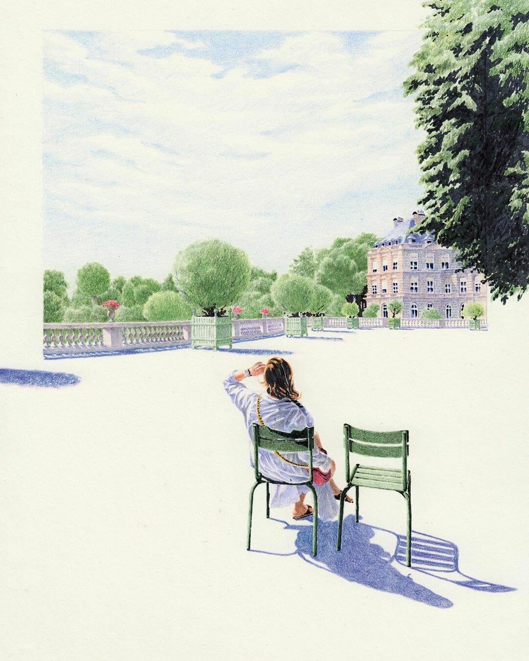 "Alexandre Luu "" Jardin du Luxembourg"""