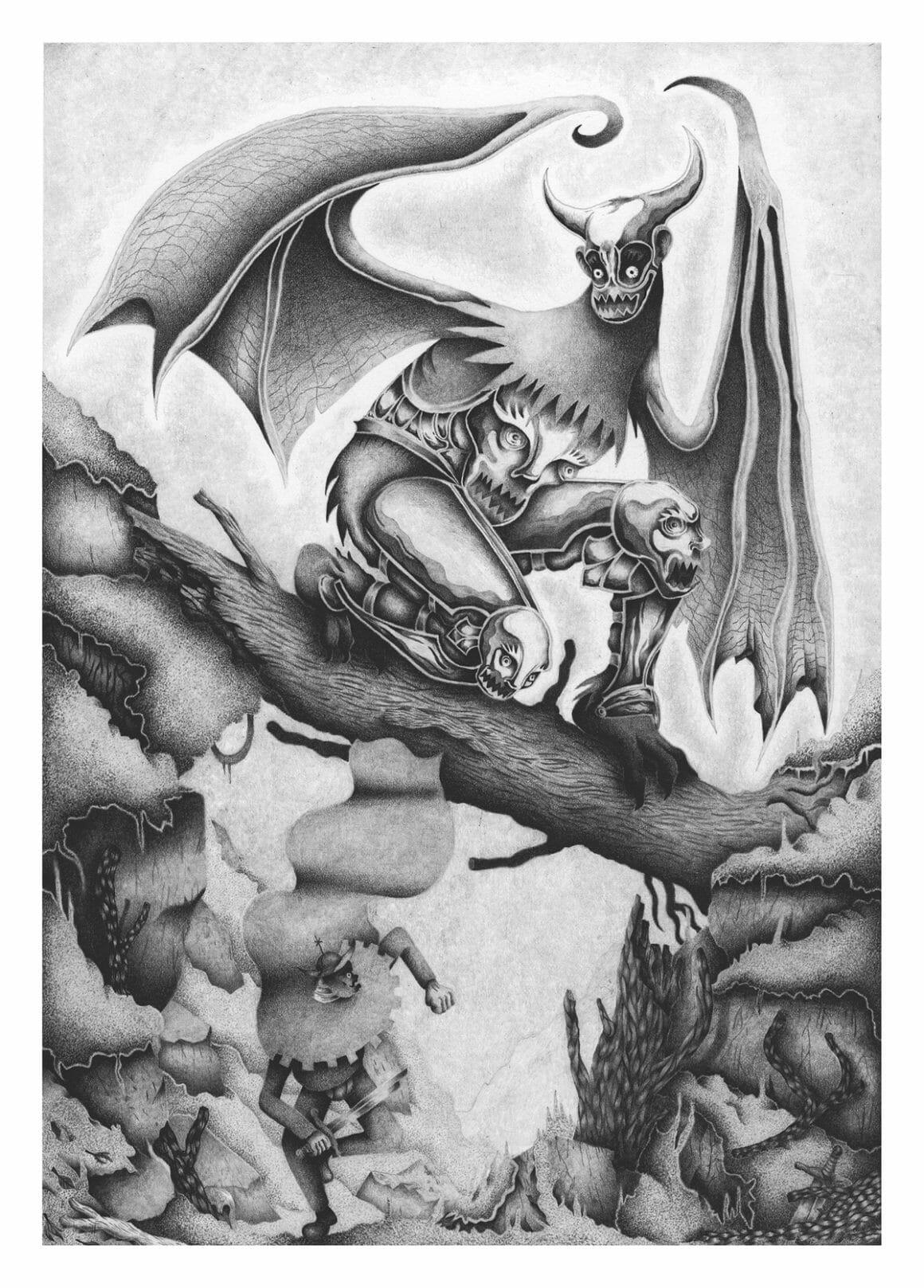 Illustration au graphite par Nicolas Degaudenzi