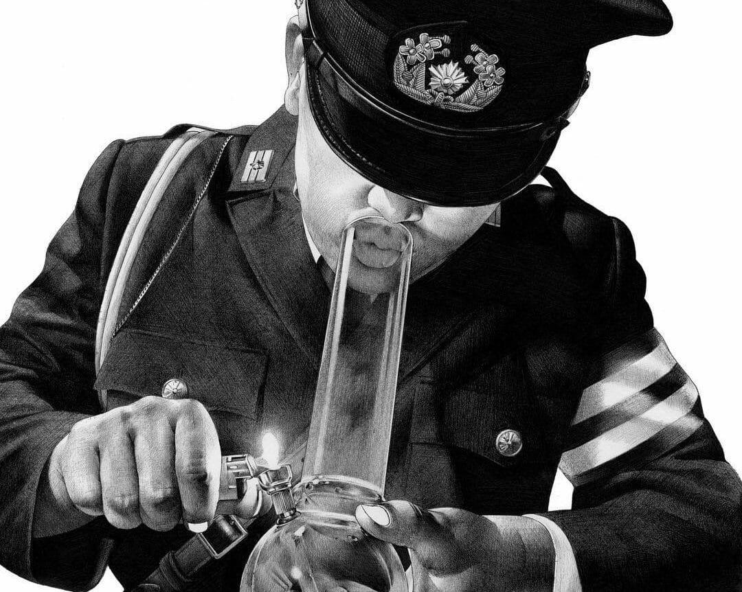 """Shohei Otomo """"Policeman with bang"""""""