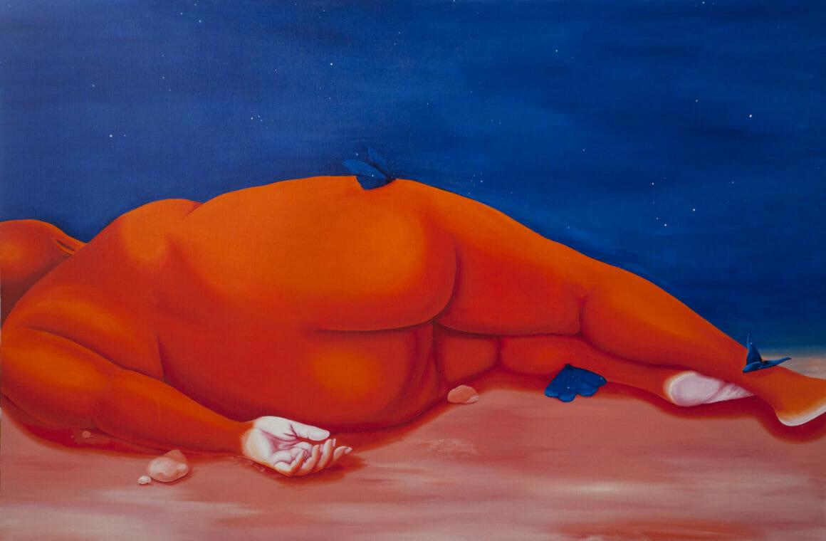 Un corps nu allongé