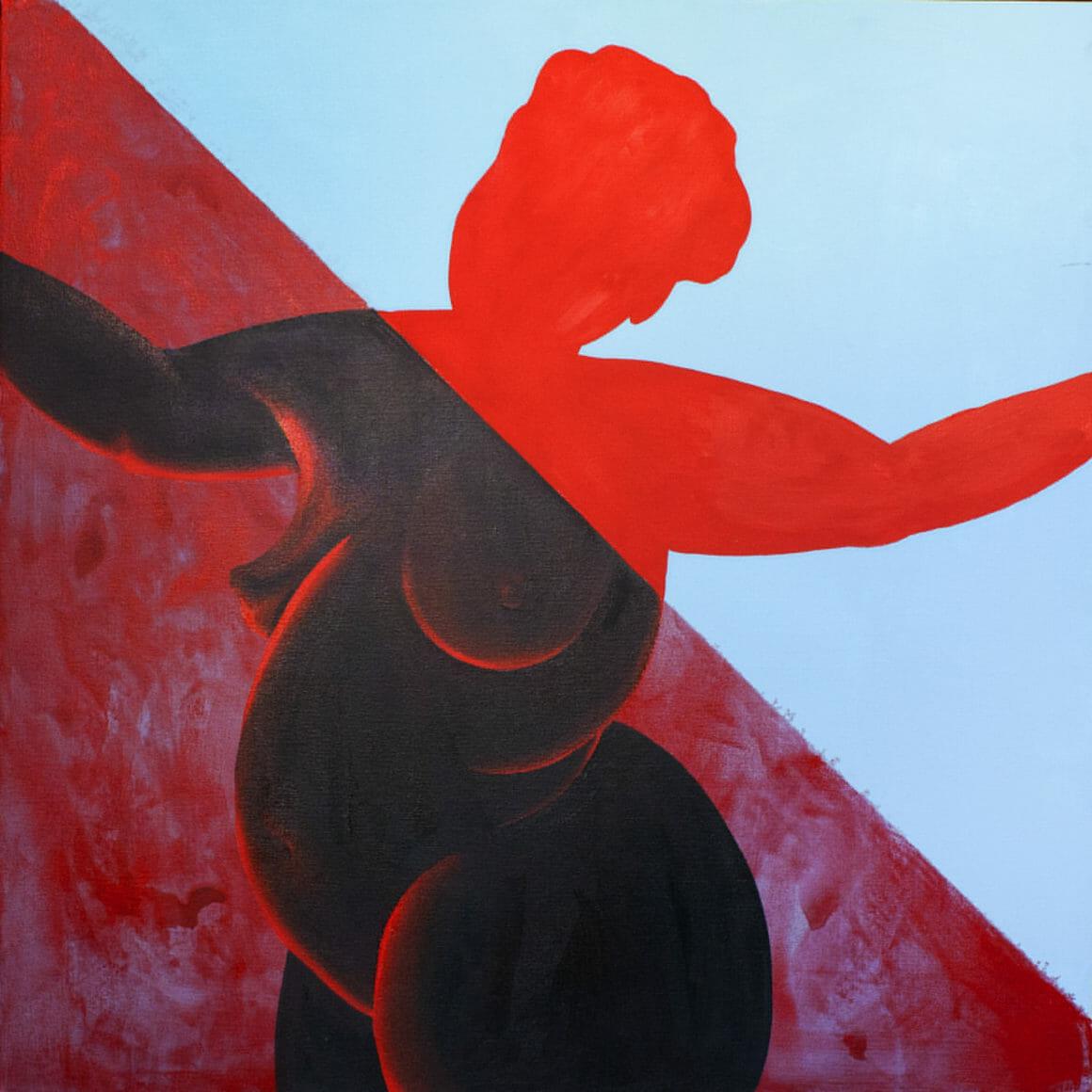 Portrait des formes d'une femme nue