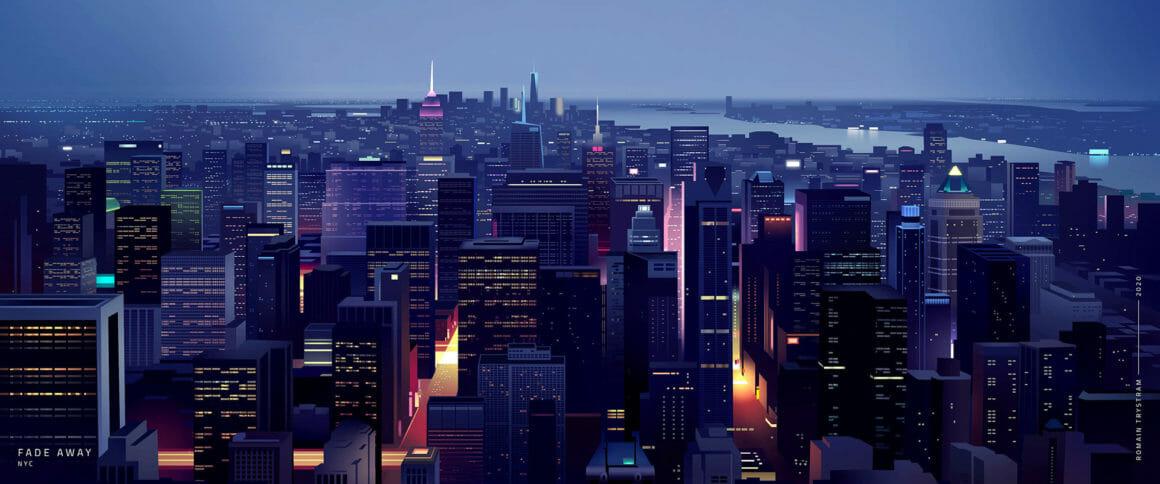 Vue d'ensemble d'une grande ville