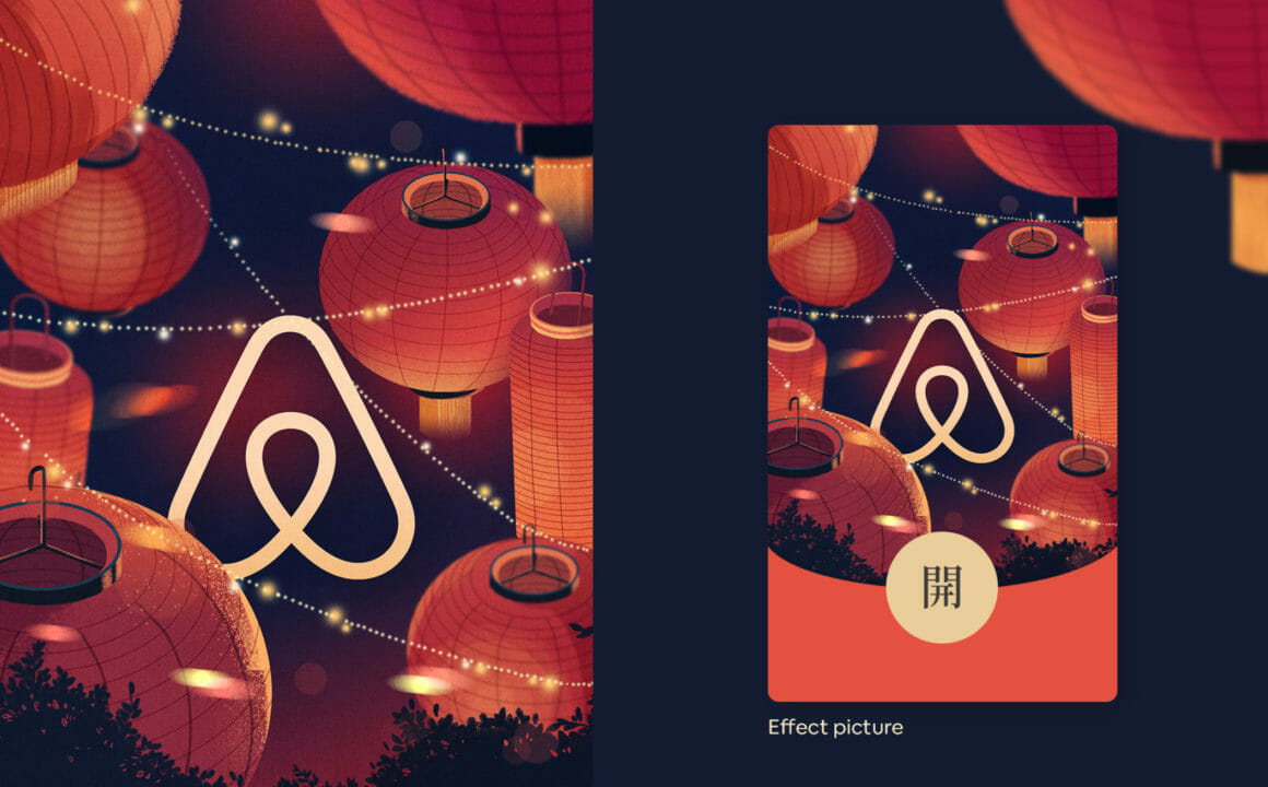 Design rouge pour Airbnb Chine