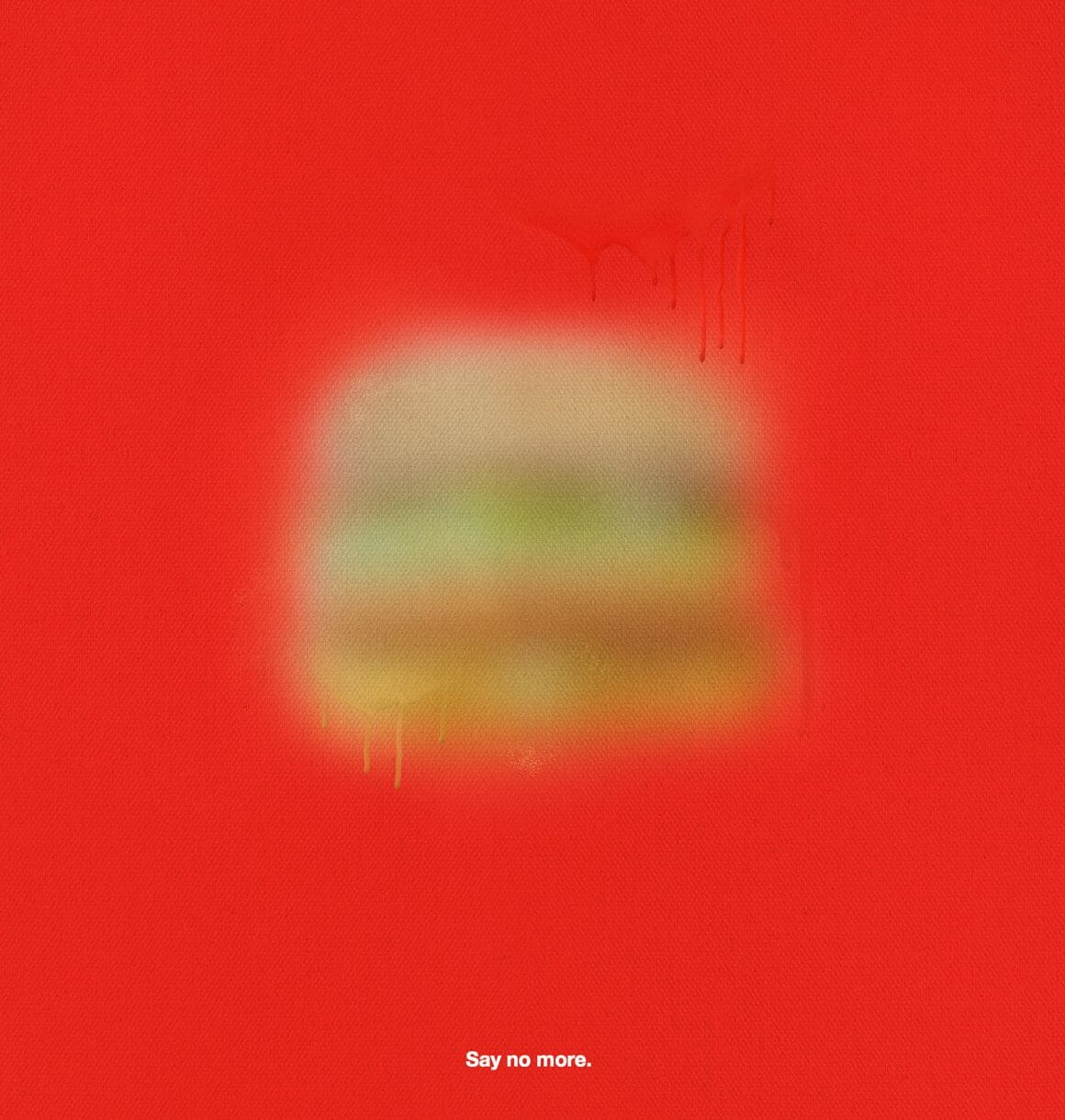 Image floue d'un hamburger de McDonald's