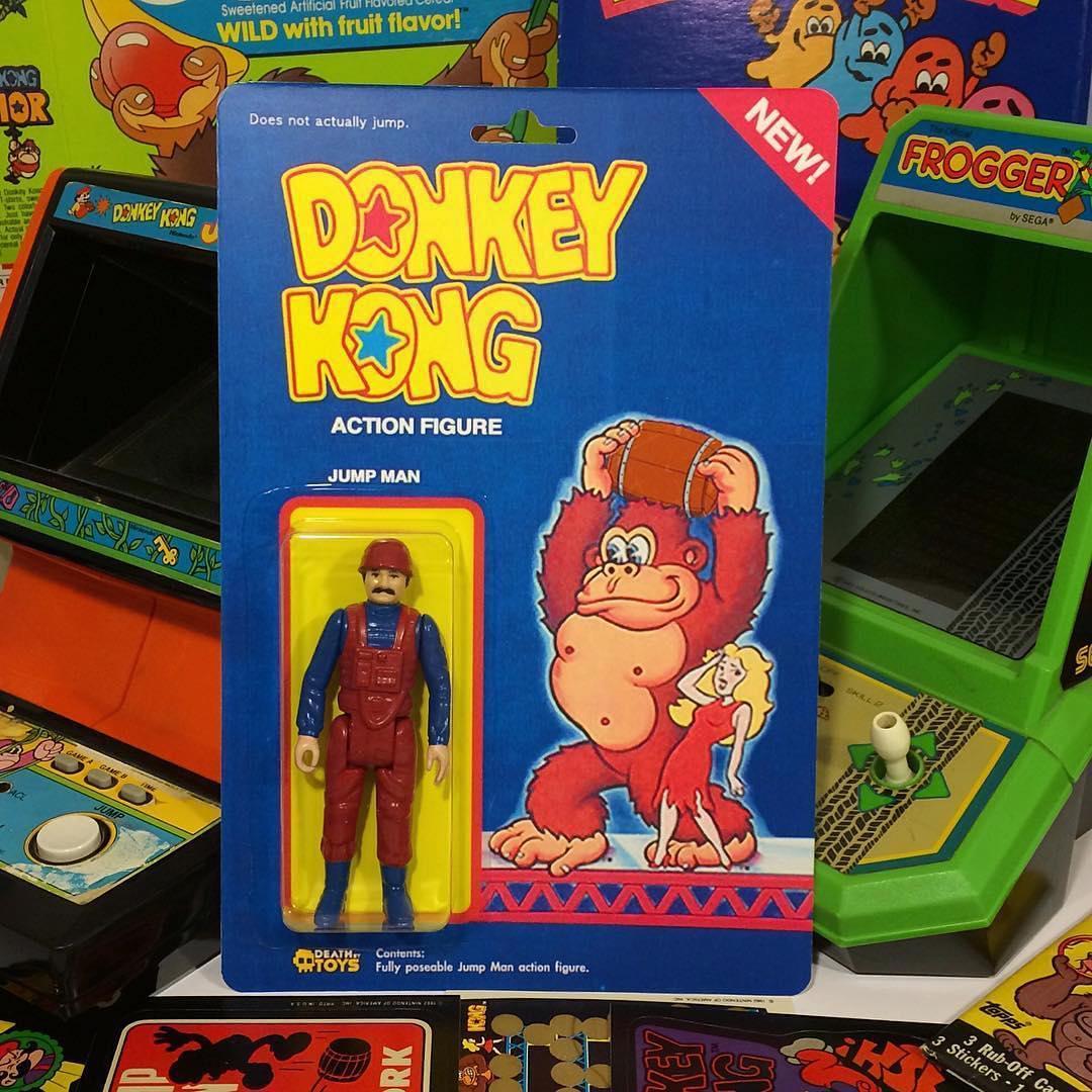 """Figurine du personnage """"qui saute"""" dans Donkey Kong (Mario)"""
