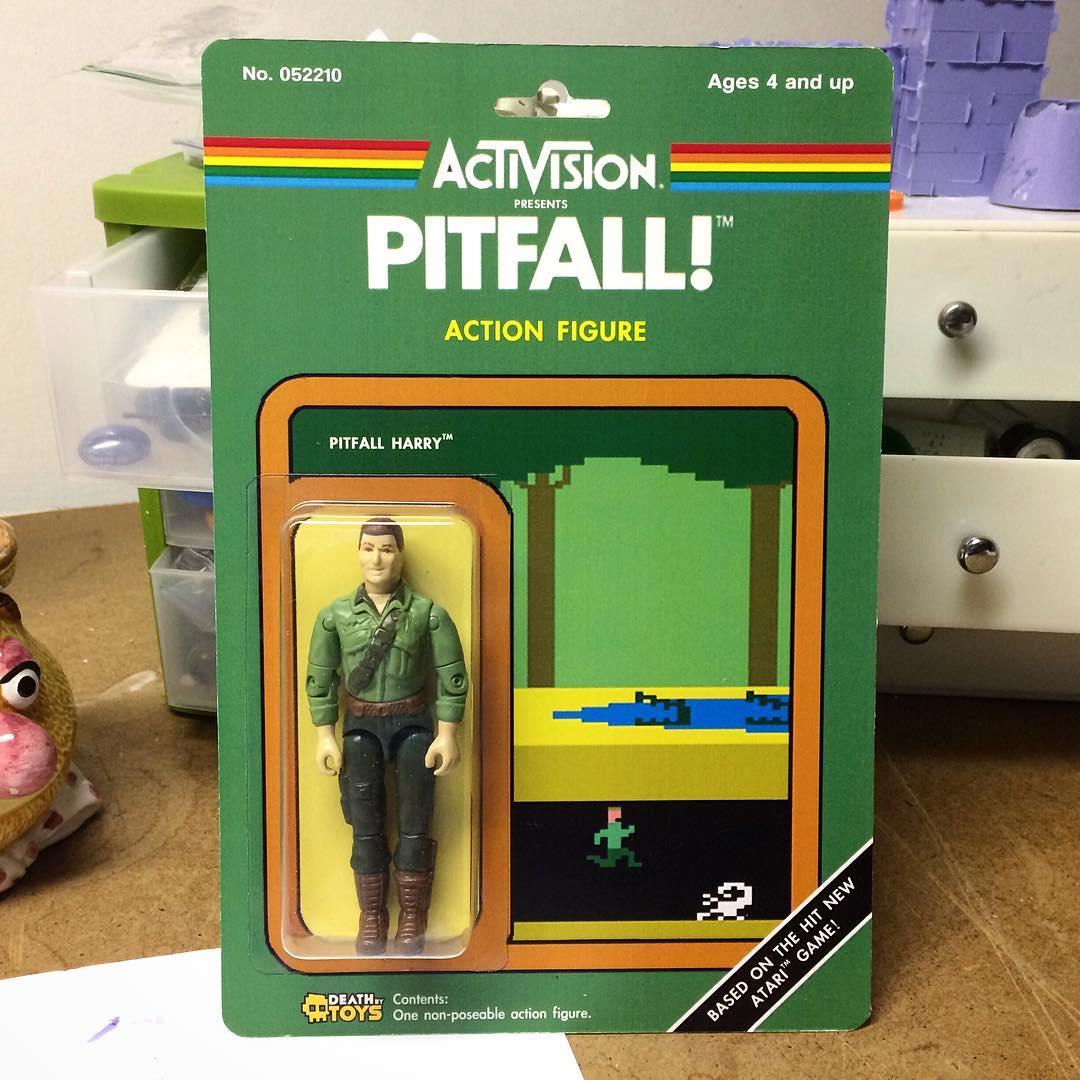Atari figurine inspire par Pitfall! Aventurier habillé de vert