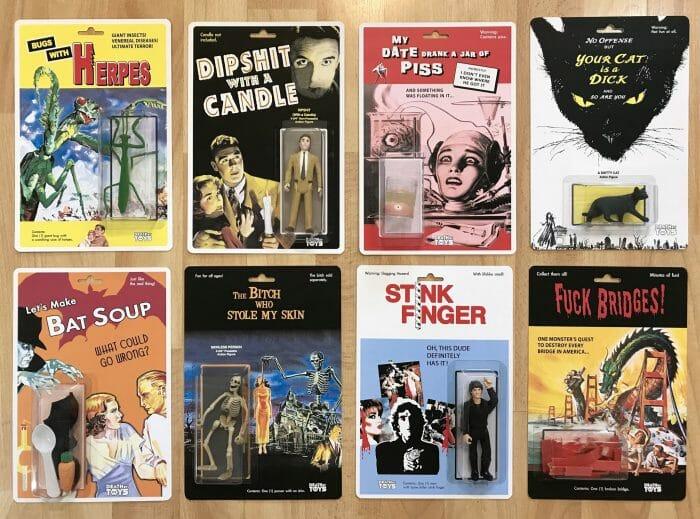 Collection Public Domain Horror Toys Les 8 figurines sont exposées  3 exemples à suivre