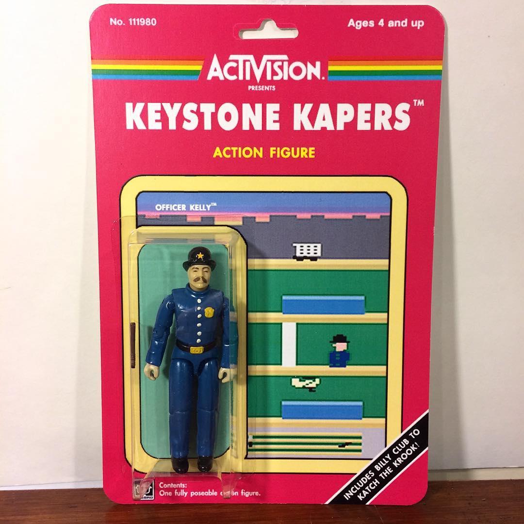 Figurine inspirée du jeu Keystone Kapers (Atari) Petit policier à l'anglaise