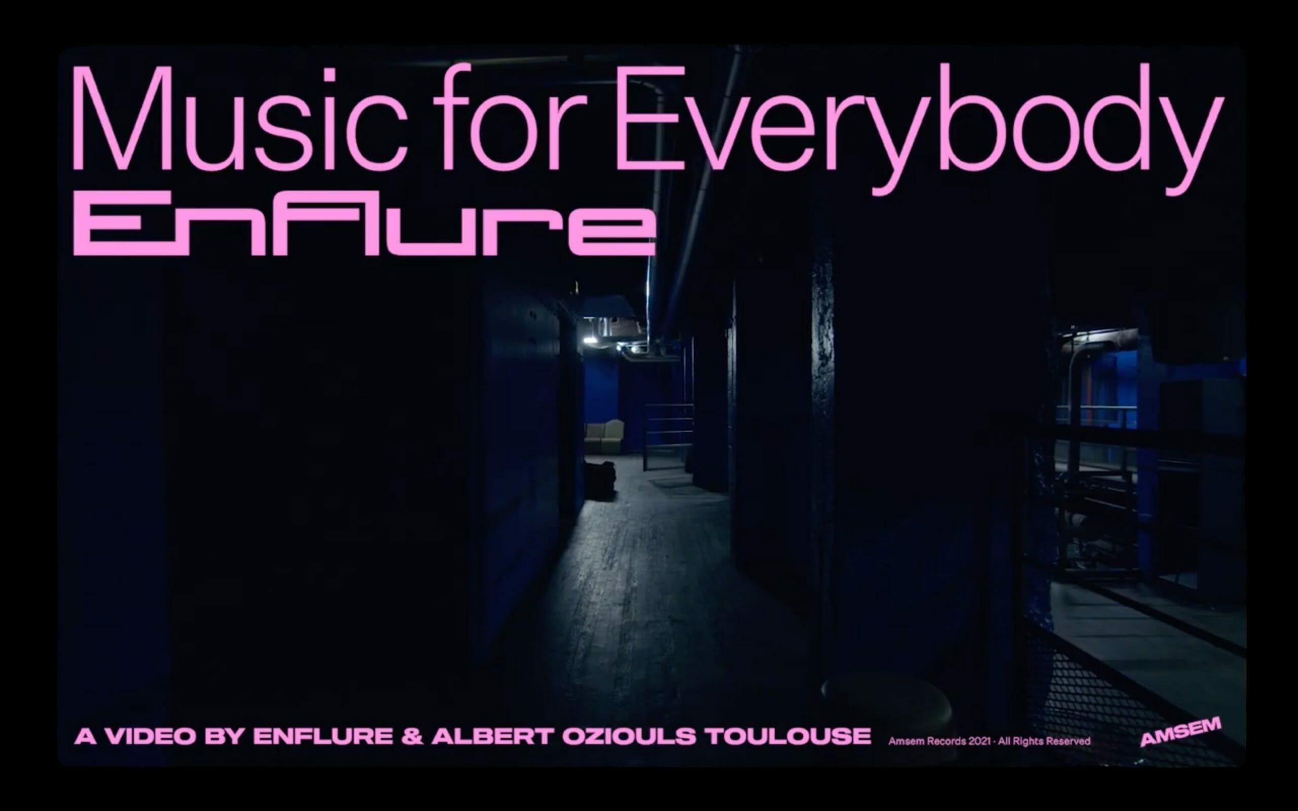 Enflure - Music For Everybody : un clip sur les clubs vides en temps de crise 1