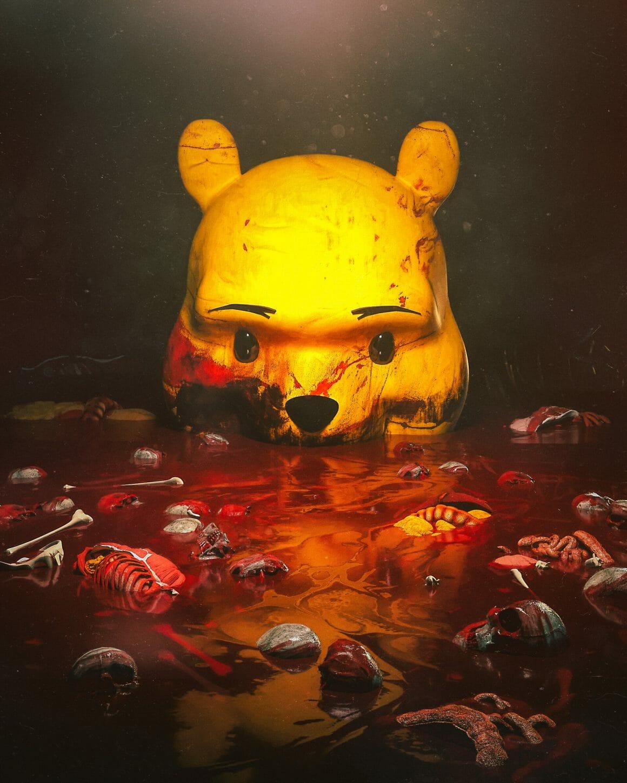 Winnie l'Ourson dans un bain de sang et de cadavres