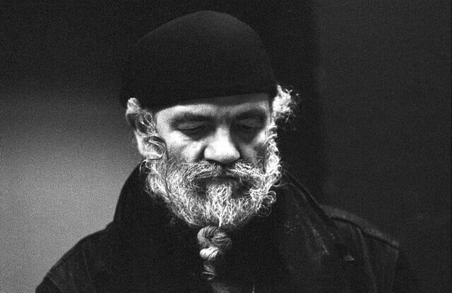 Le compositeur La Monte Young en 1992