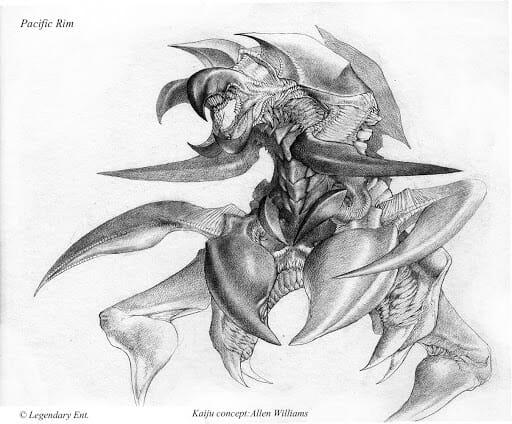 Concept art d'un kaiju réalisé pour Pacific Rim par Allen Williams