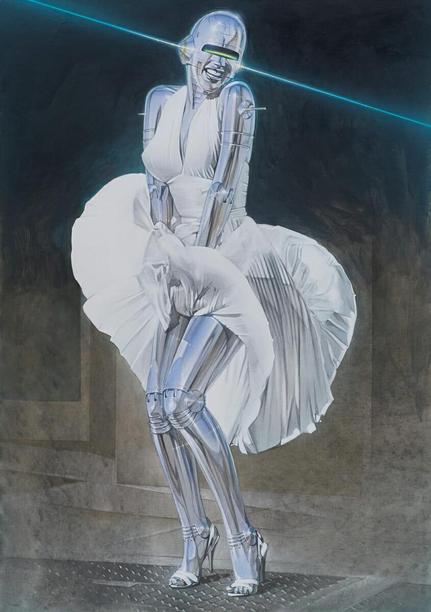 Illustration réalisée par Hajime Sorayama.