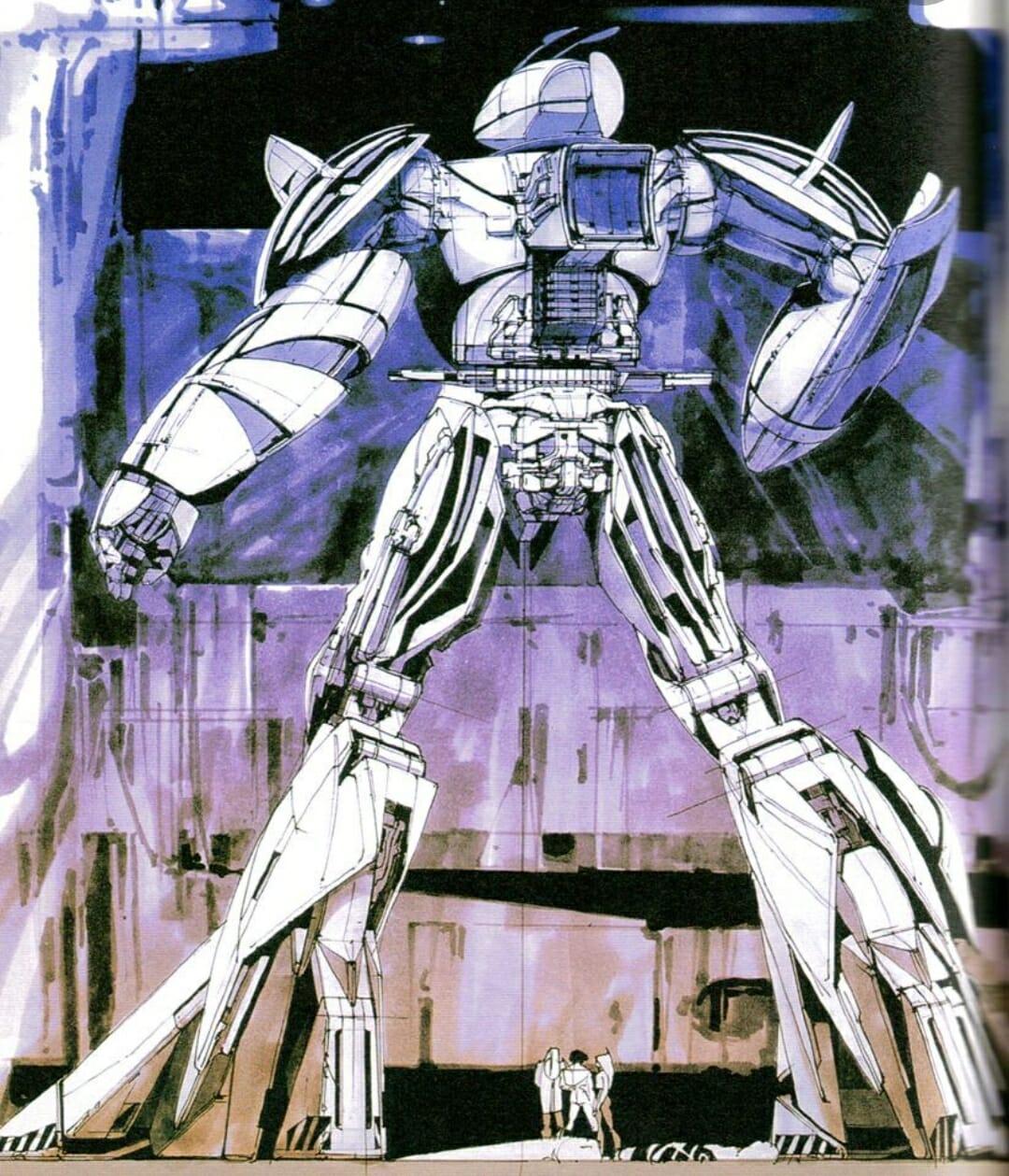 Concept art réalisé pour la saga Gundam.