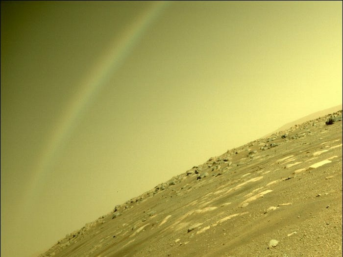 Cliché atmosphérique de persévérance rover