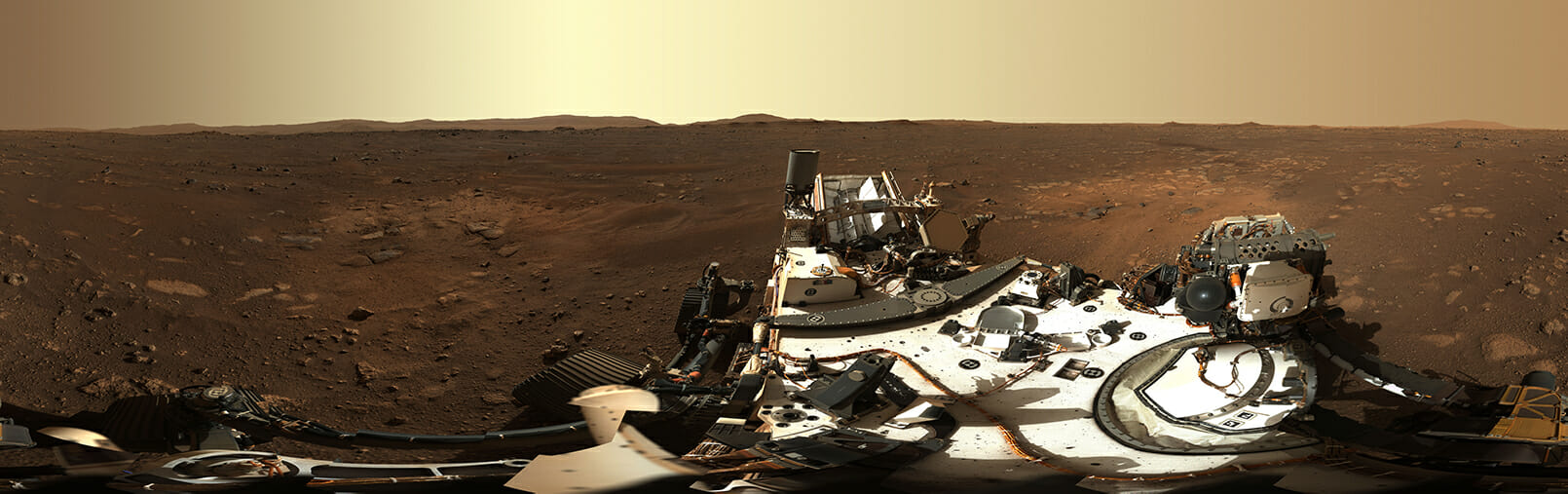 Image du sol Marsien prise par les caméras de navigation du Perseverance Rover