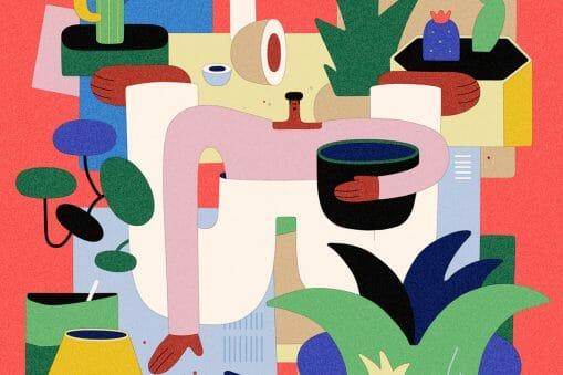 Leandro Alzate illustration de personnage colloré
