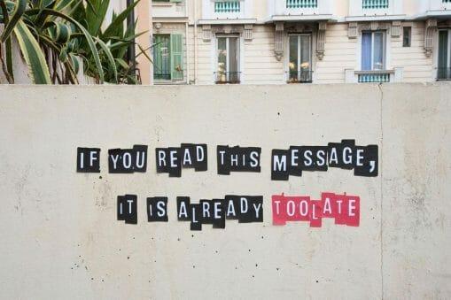 TOOLATE street art