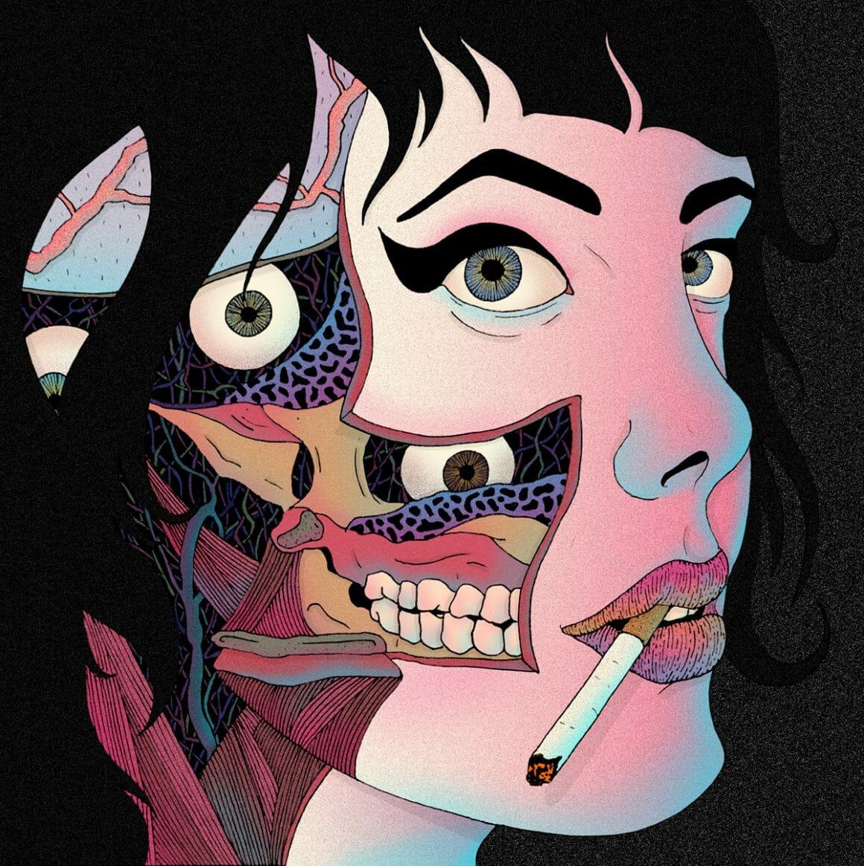 illustration de Pablo Gerardo Camacho montrant une femme de l'interieur