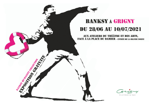Affiche de l'exposition « Banksy Humanity Collection »