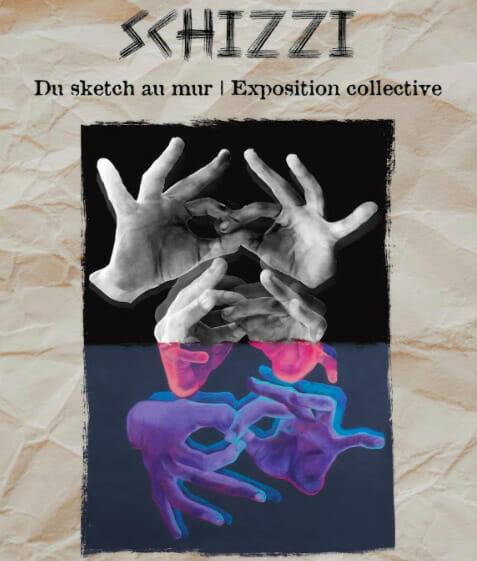 Affiche de l'exposition Schizzi : Du sketch au mur