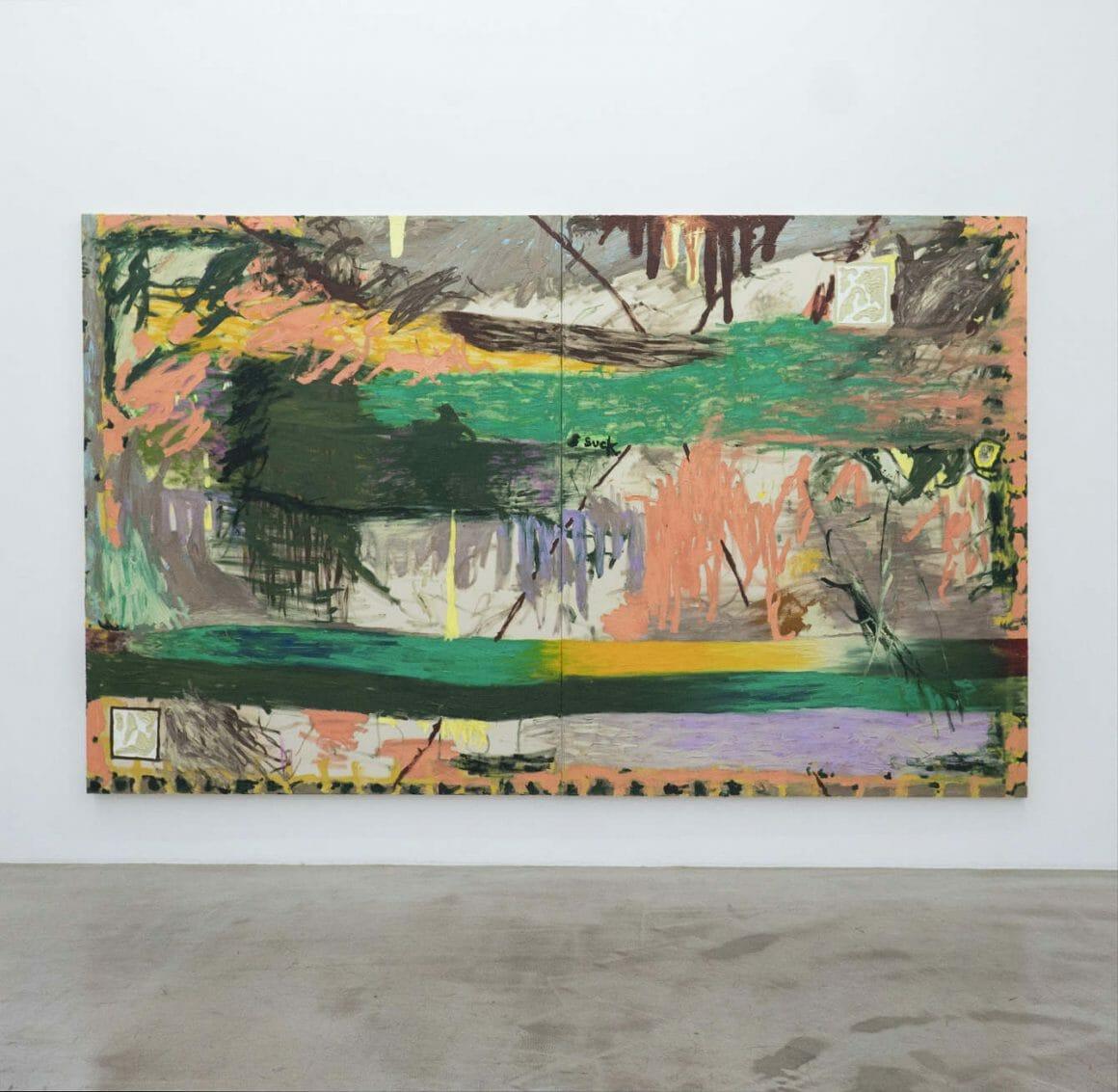 Daisy Parris abstract vert et orange