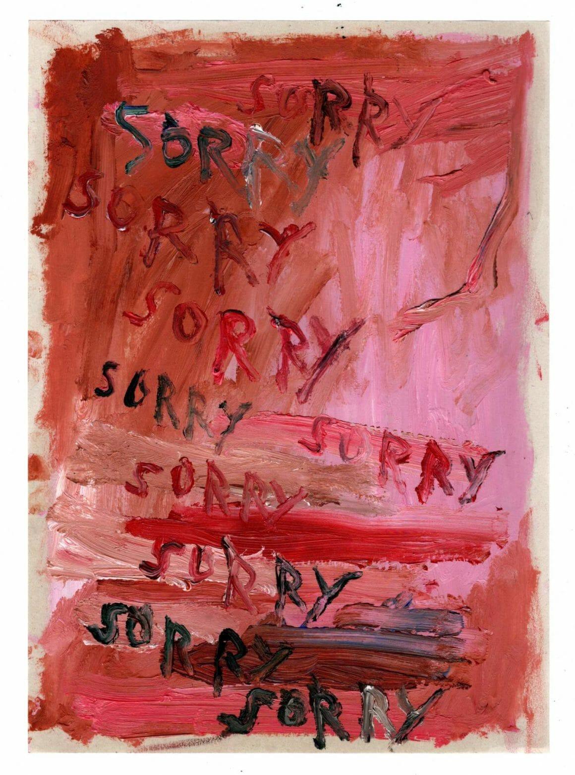 Découverte de la peinture de Daisy Parris sorry sorry sorry