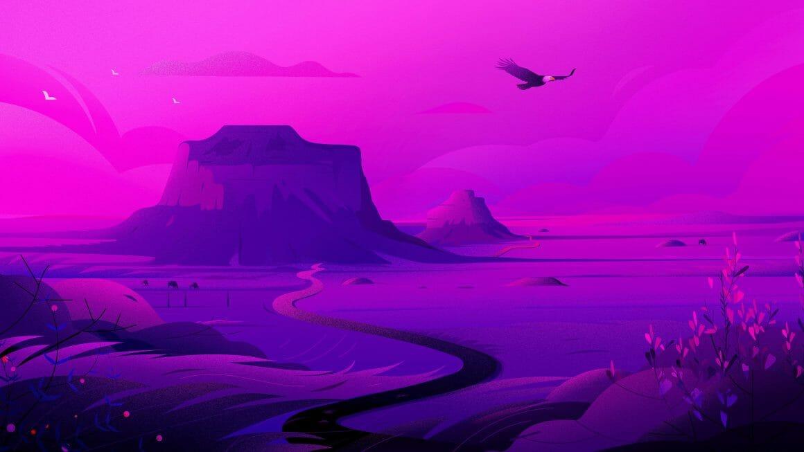 Illustration d'un désert