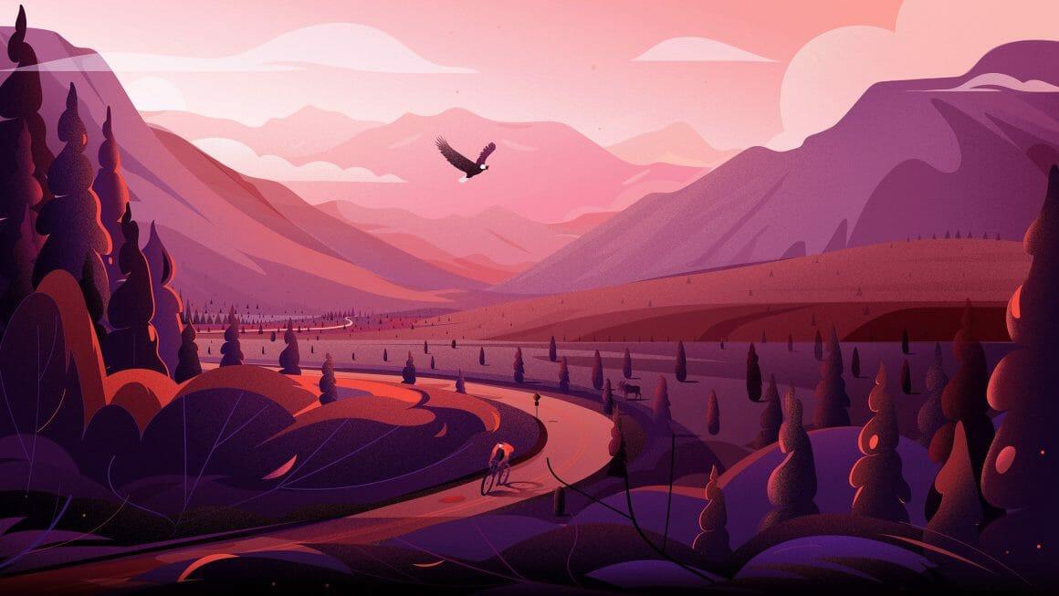 Illustration de montagnes