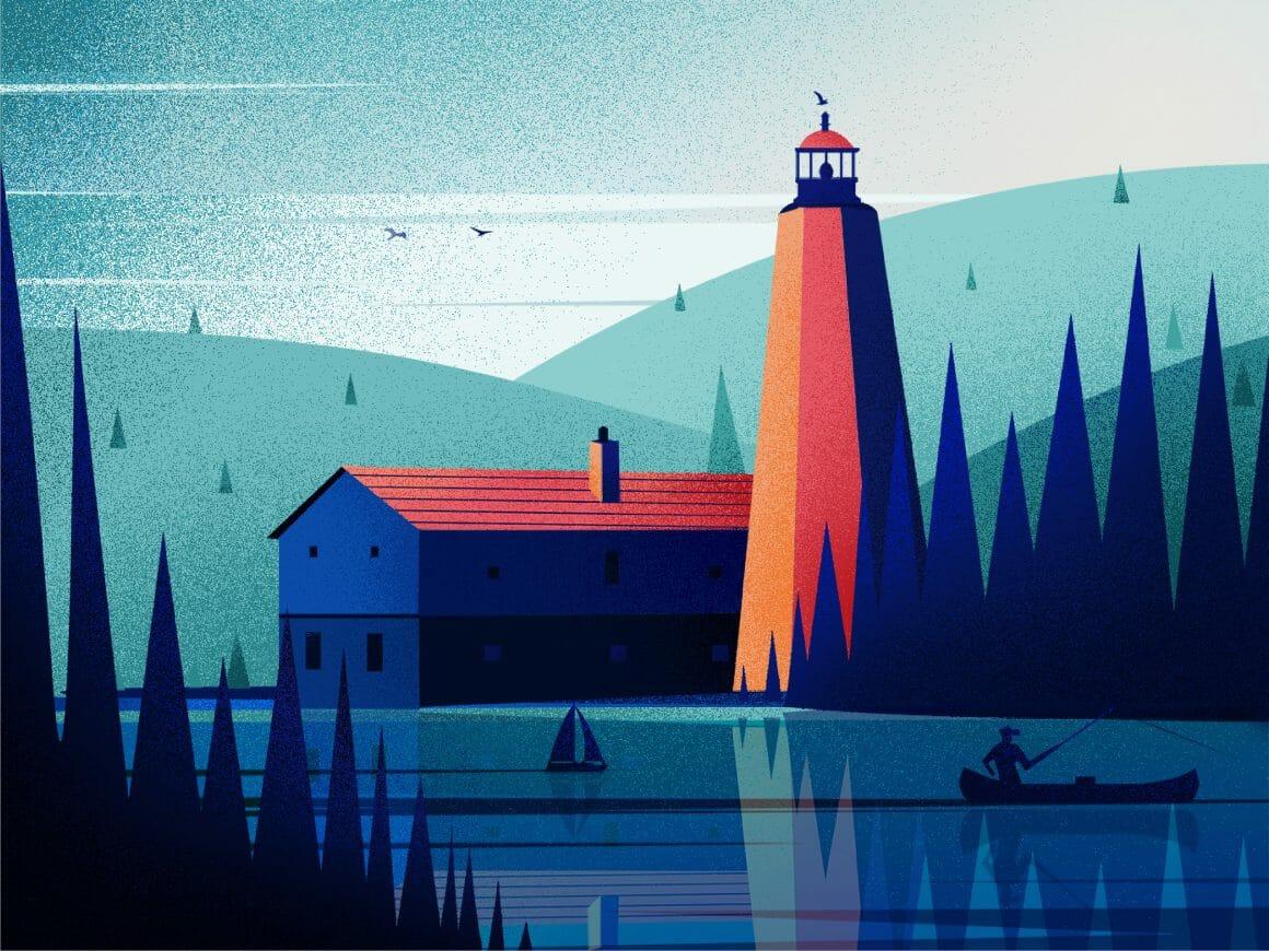 Illustrations d'un phare
