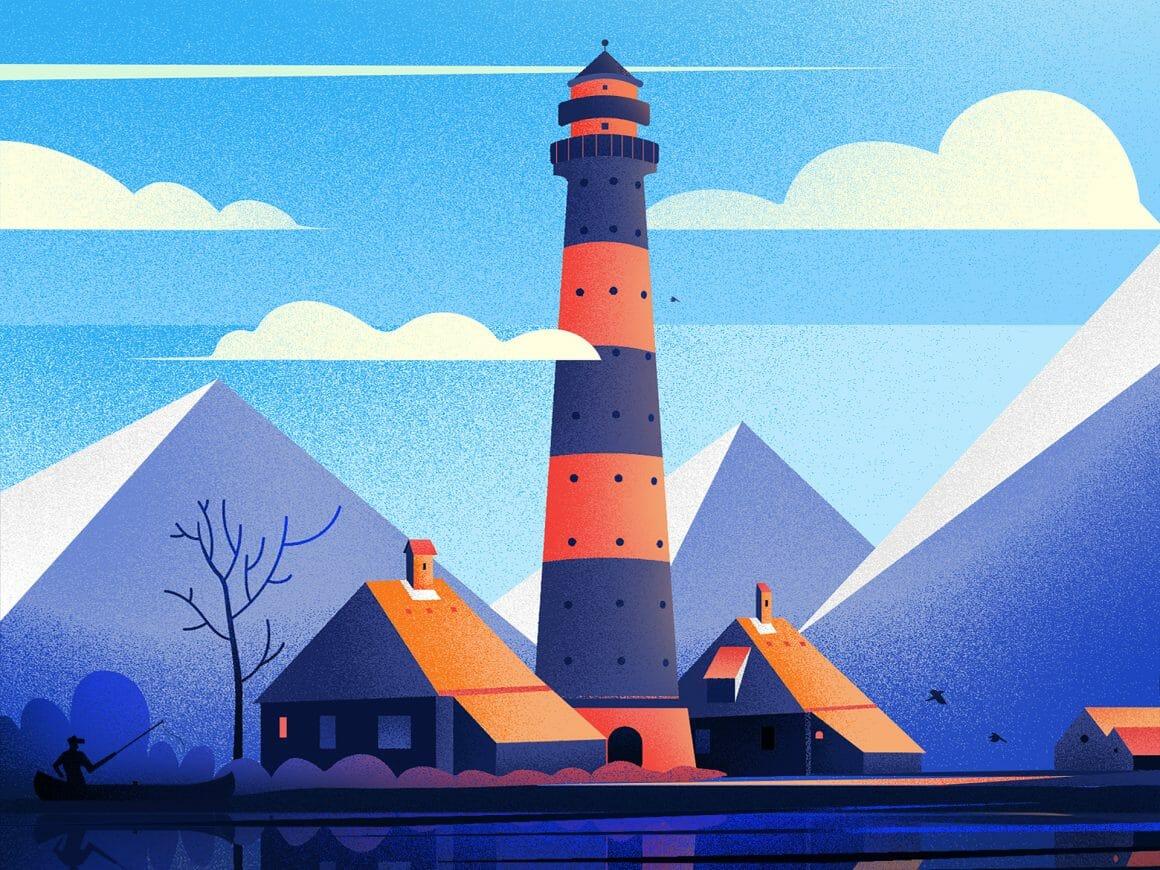 Illustration d'un phare