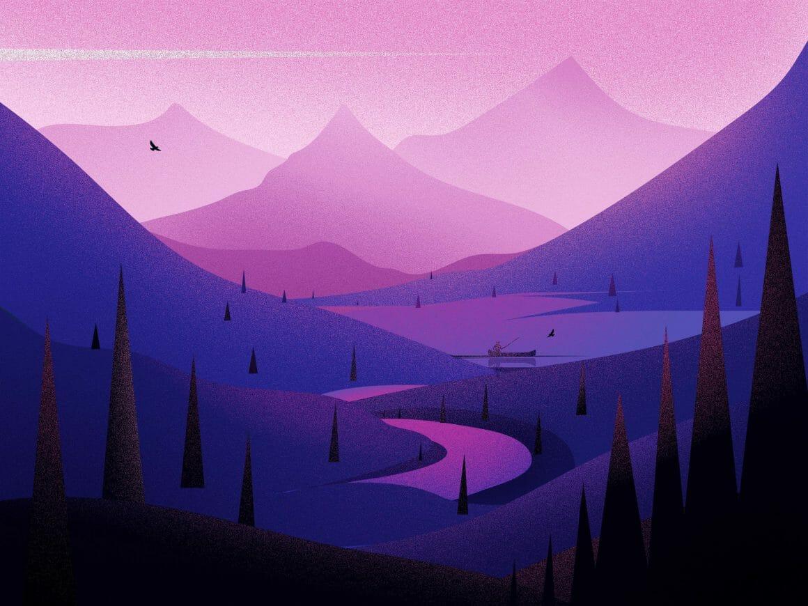 Illustration d'une route dans la montagne