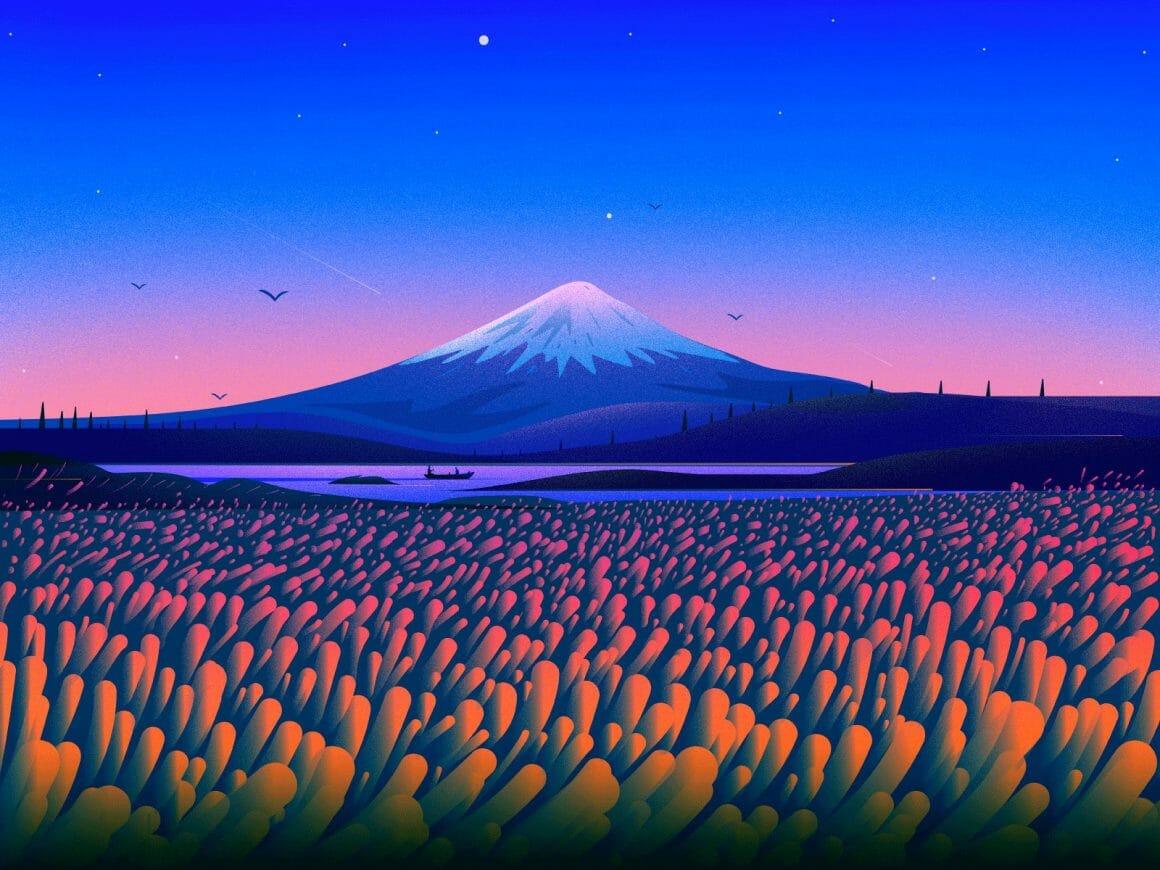 Illustration du Mont Fuji