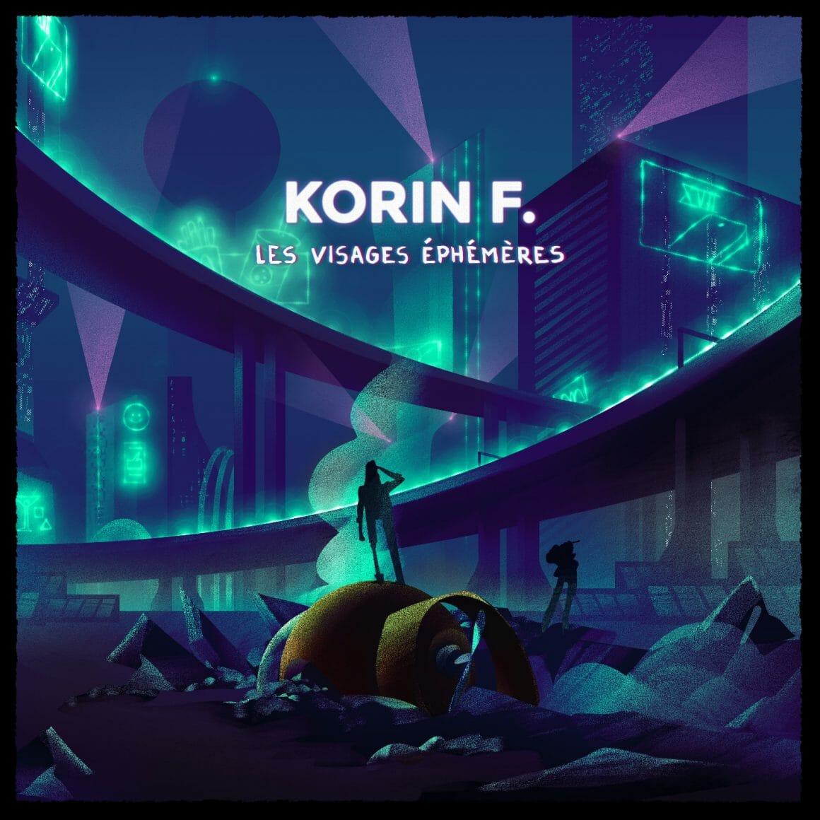 """Illustration du single """"Visages Éphémères"""""""